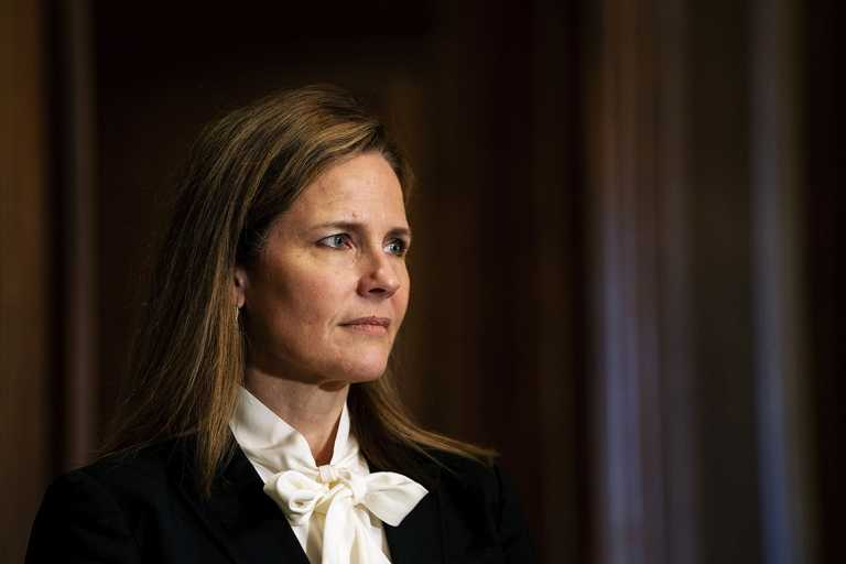 Dems ask DOJ for answers over Barrett's abortion ad omission