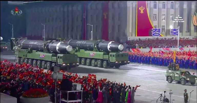 Emergency meeting held in South Korea after North Korea parades new missiles
