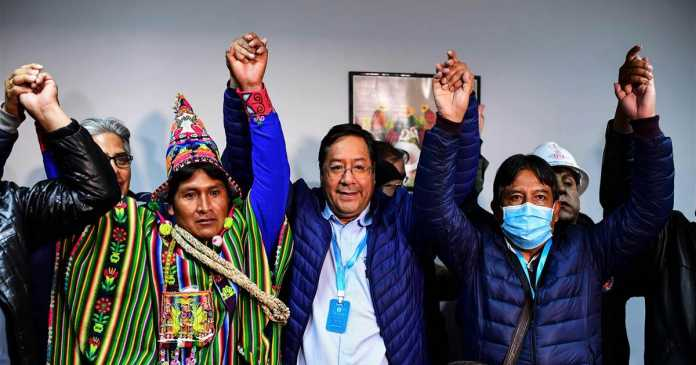 In Bolivia, successor to Evo Morales claims victory