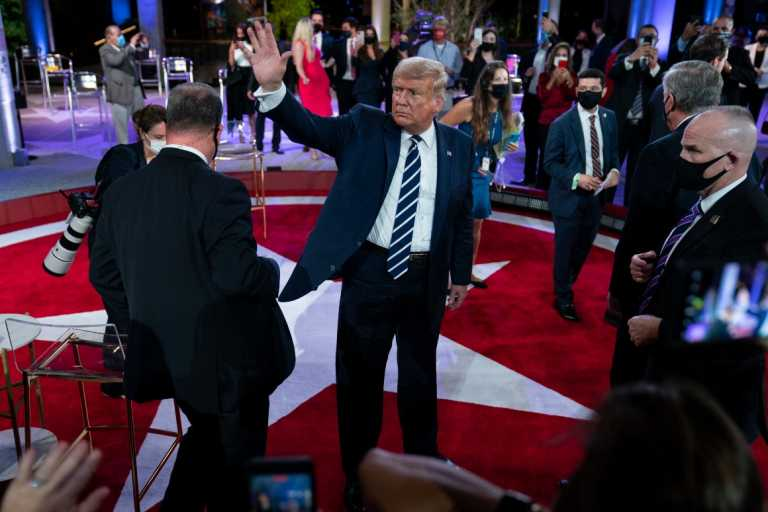 Inside Trump's town hall: Plenty of sparring and a few cheers