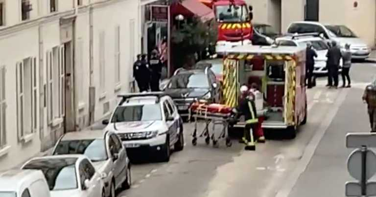 Knifeman shot with Taser after trying to attack police officers in Paris