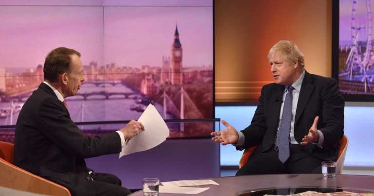 Live as Boris Johnson faces tough questions from Andrew Marr