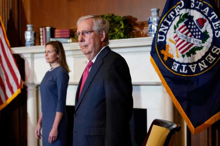 McConnell vows 'full steam ahead' on Barrett nomination