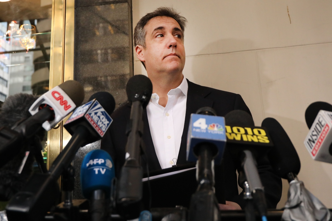 Michael Cohen writing book about DOJ and Trump world