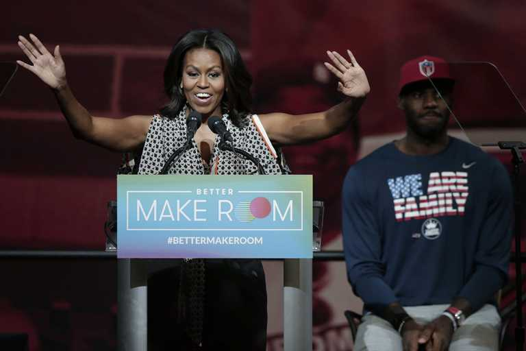 Michelle Obama, LeBron James team up to boost early voting