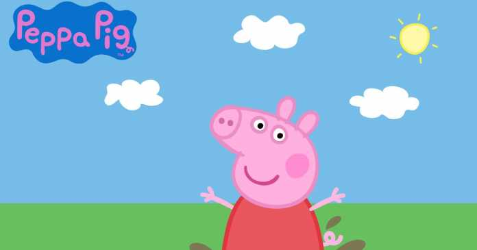 Mum embarrassed at 'rude word' plastered over Peppa Pig plate