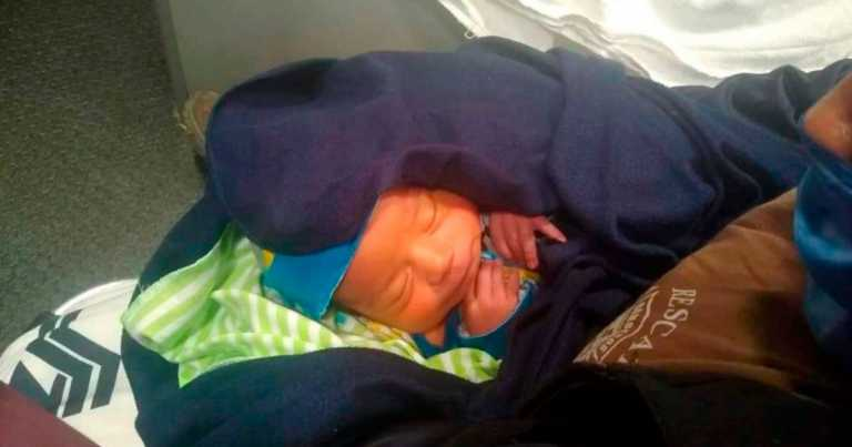 Newborn baby abandoned in pizza box with note begging for forgiveness
