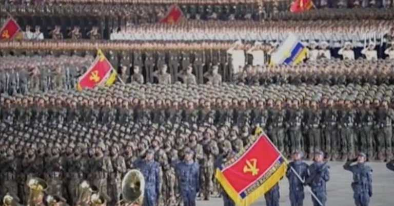 North Korea holds military parade as Kim Jong-un says no citizens have Covid-19