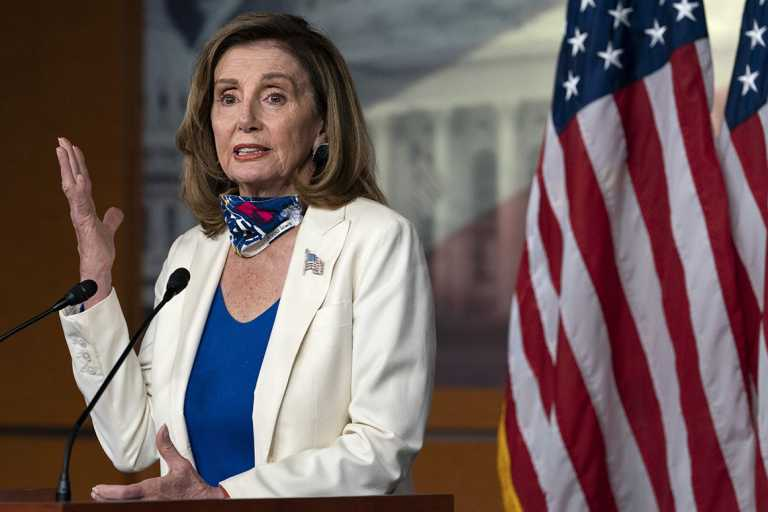 Pelosi chafes at Wolf Blitzer's questions on Covid talks