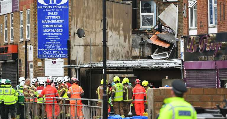 Two people confirmed dead after suspected gas explosion in London shop