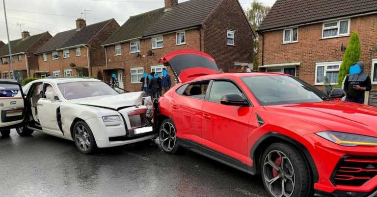 Rolls Royce hits Lamborghini in a very pricey collision