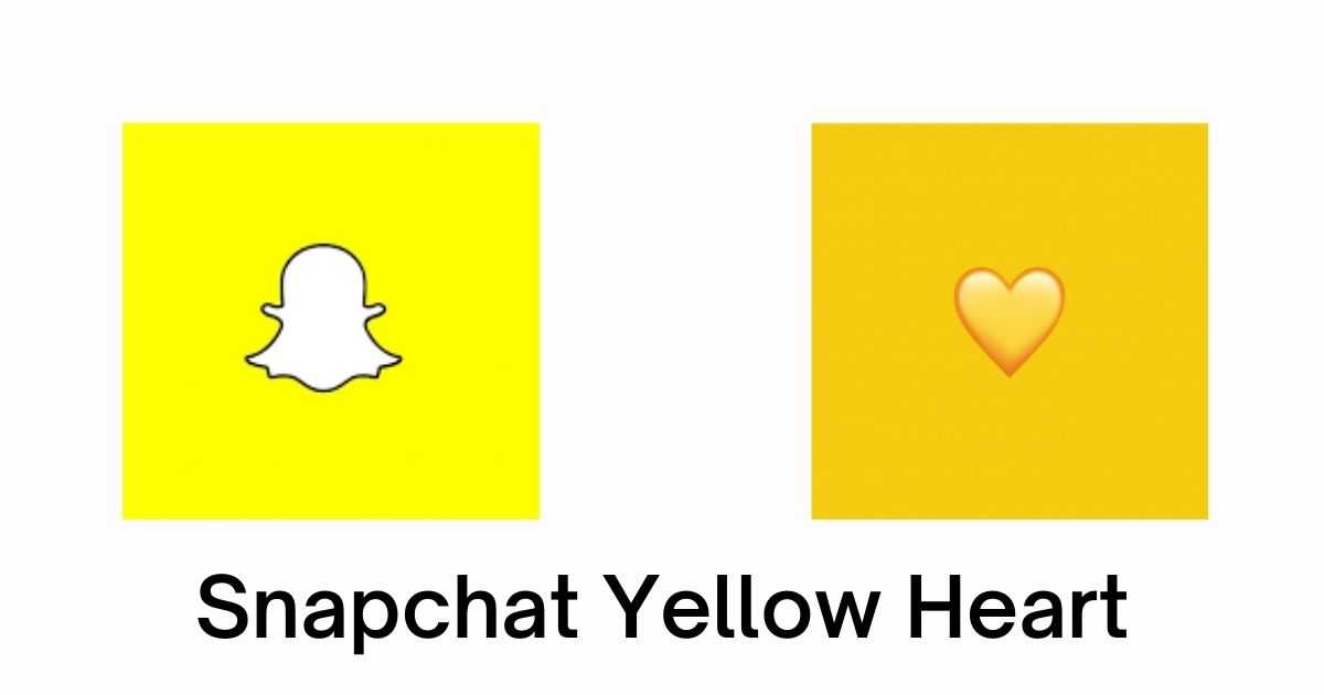 Snapchat yellow heart