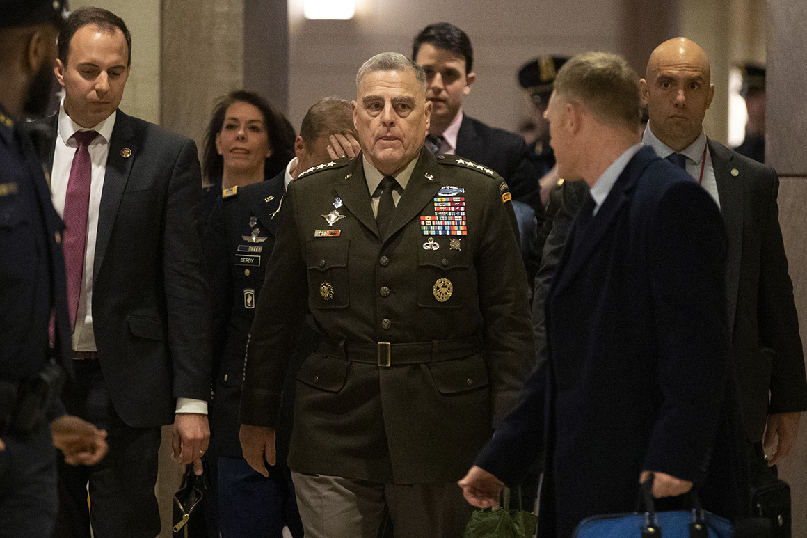 Top general did not give his consent to be used in Trump political ad
