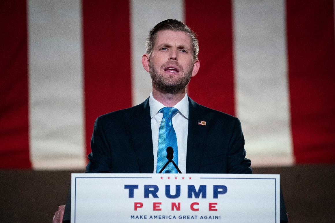 Trump didn't want to do a 'glorified conference call,' Eric Trump says of canceled debate