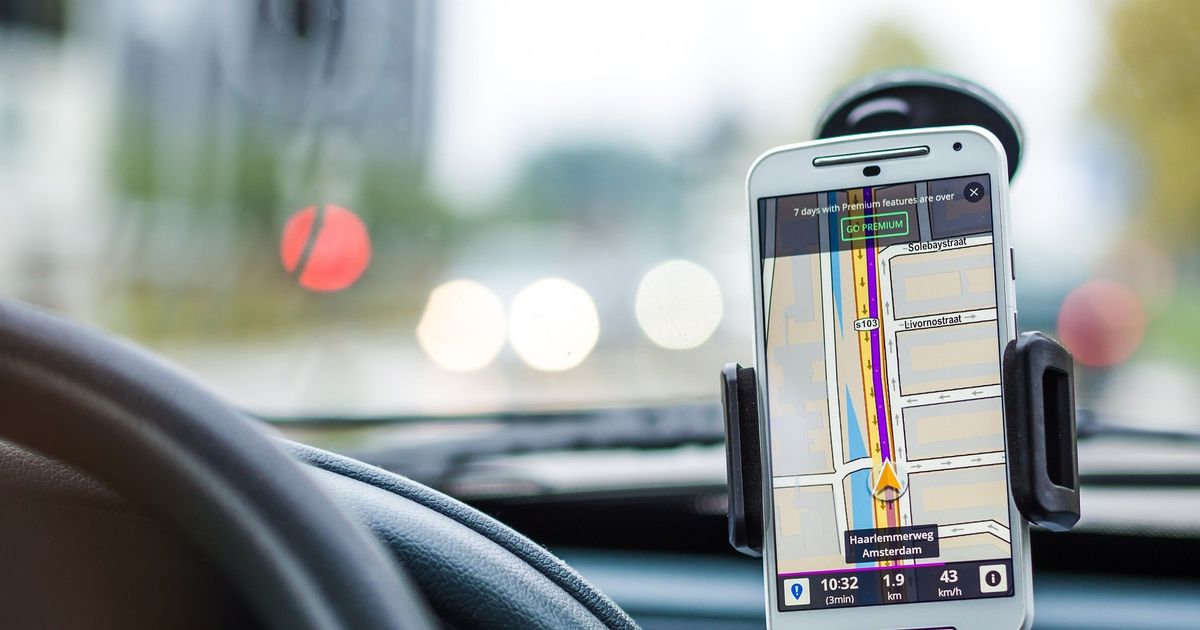 Using your phone for directions in the car could break the law