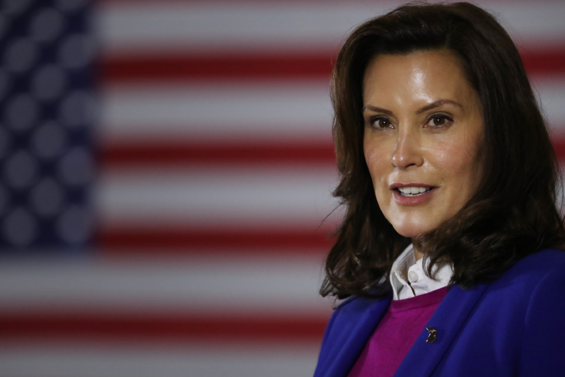 Whitmer to Trump: Talk about the pandemic, not me