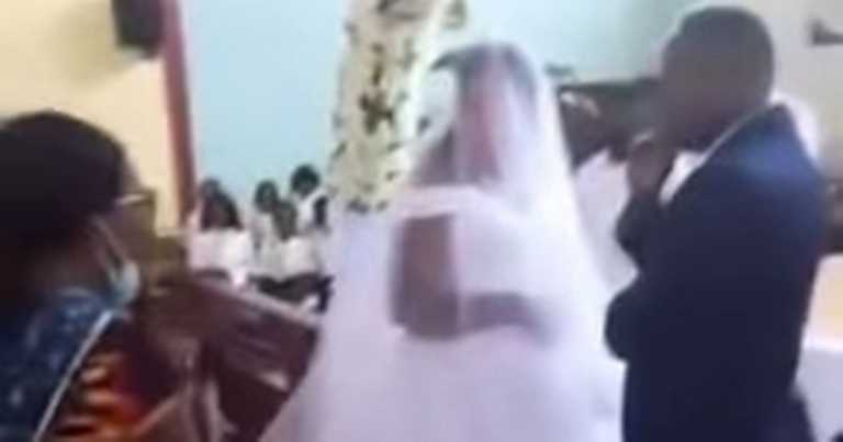 Wife confronts husband in church as he tries to marry woman behind her back