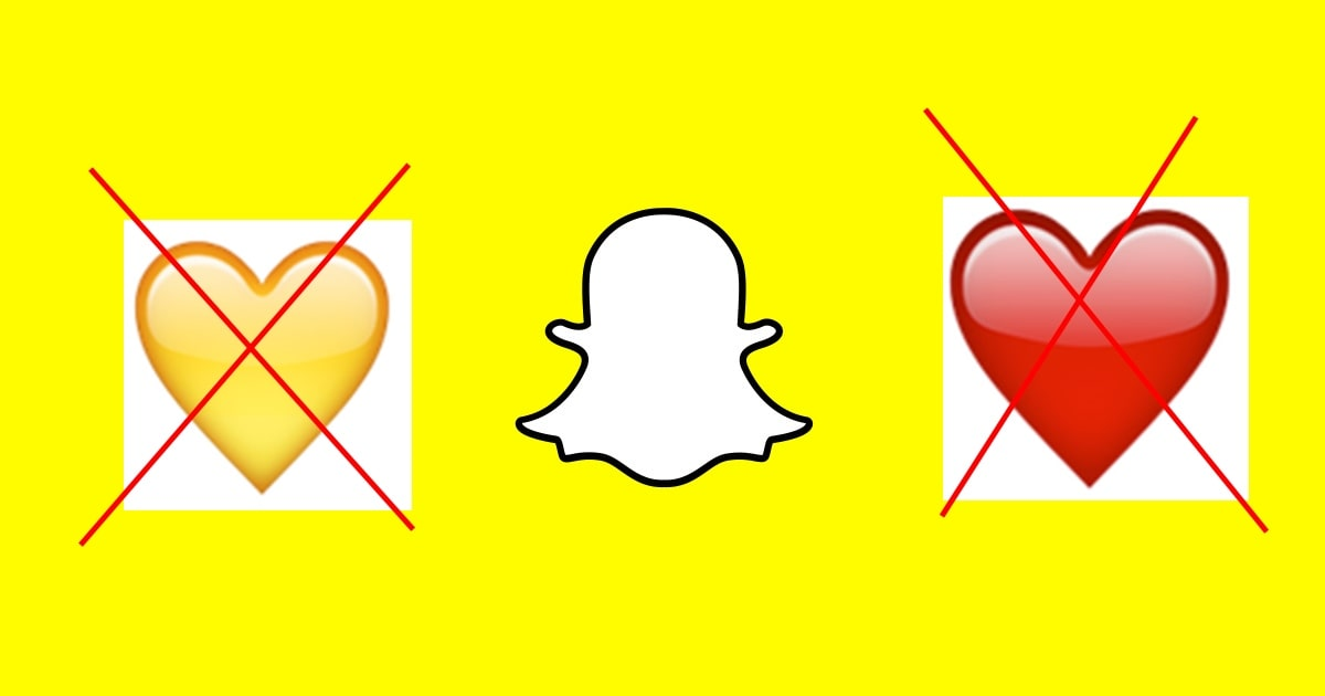Snapchat Yellow Heart not turning Red