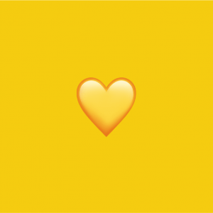 Yellow heart emoji snapchat