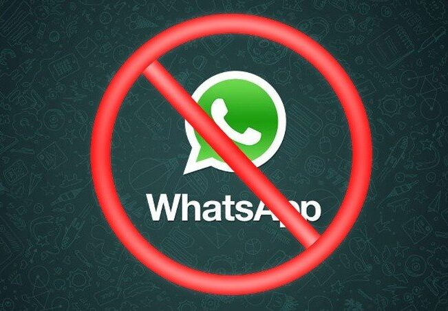 WhatsApp: This occurs when a contact is reported