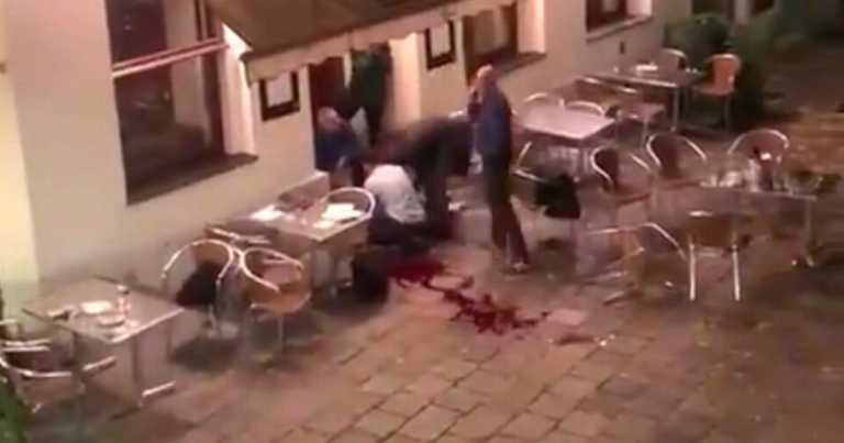 Diners hide under tables as police search for Vienna gunmen in restaurant