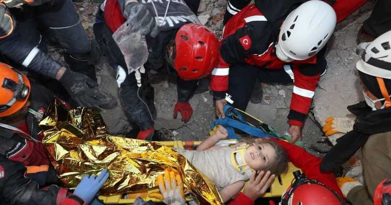 Girl, 4, pulled from rubble of building four days after earthquake in Turkey
