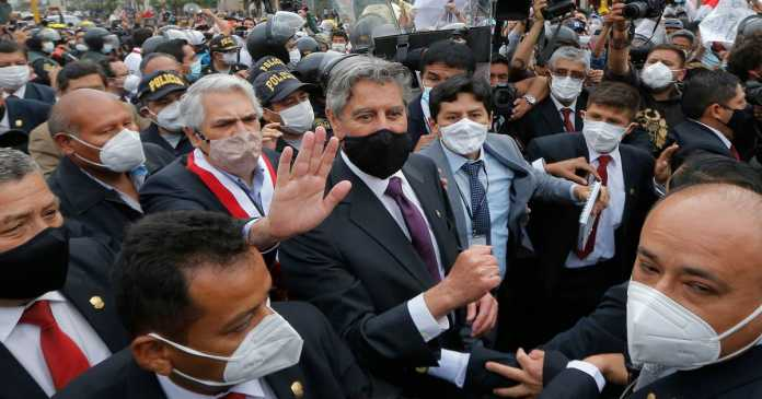 In Peru, a hope that a new president, centrist Francisco Sagasti, can calm country in crisis