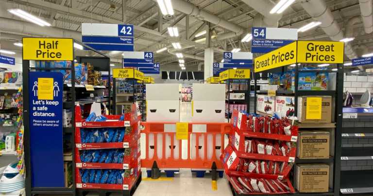 Latest rules on supermarkets selling non-essential items in lockdown