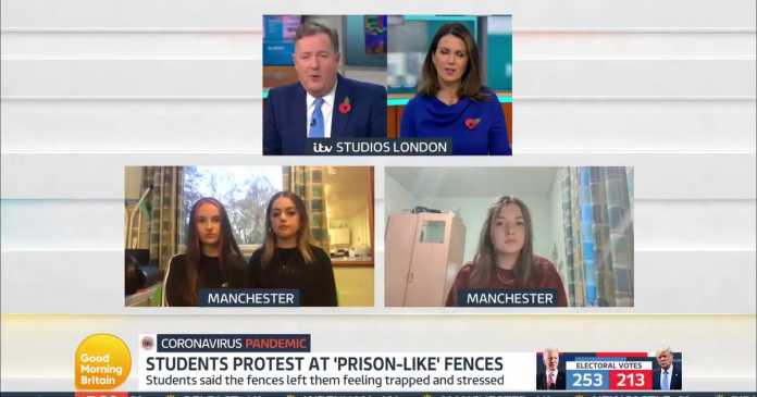 Manchester students 'felt caged like animals' by metal fences