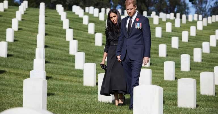 Meghan and Harry accused of 'publicity stunt' over Remembrance Sunday pics