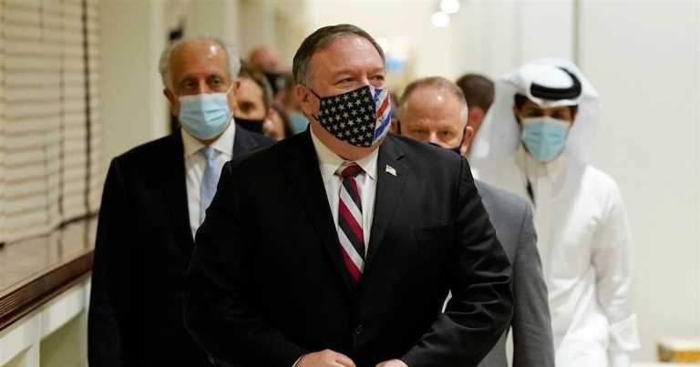 Pompeo meets with Taliban in Qatar after mortar barrage kills at least 8 in Kabul