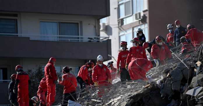 Senior pulled alive from rubble in Turkey as earthquake death toll hits 57