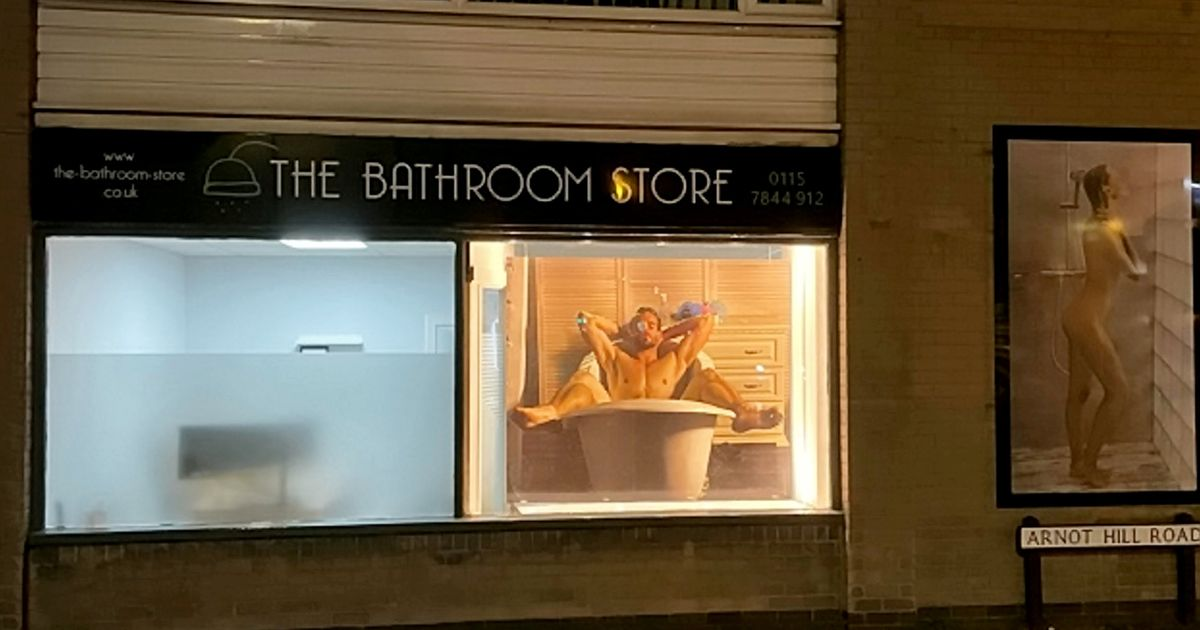 Shop forced to remove poster of naked woman replaces it with nude man