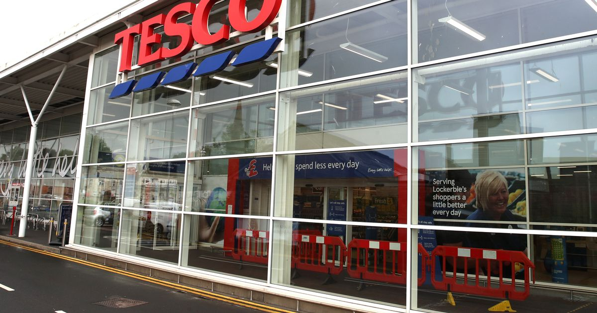 Tesco closes off some non-essential sections in English shops