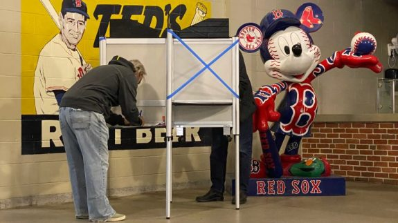 What's It Like To Vote At A Stadium?