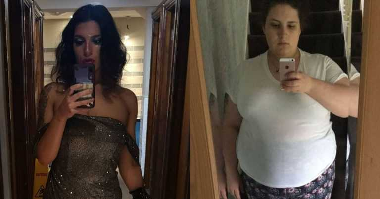 Young mum loses nearly half her body weight with new fitness plan