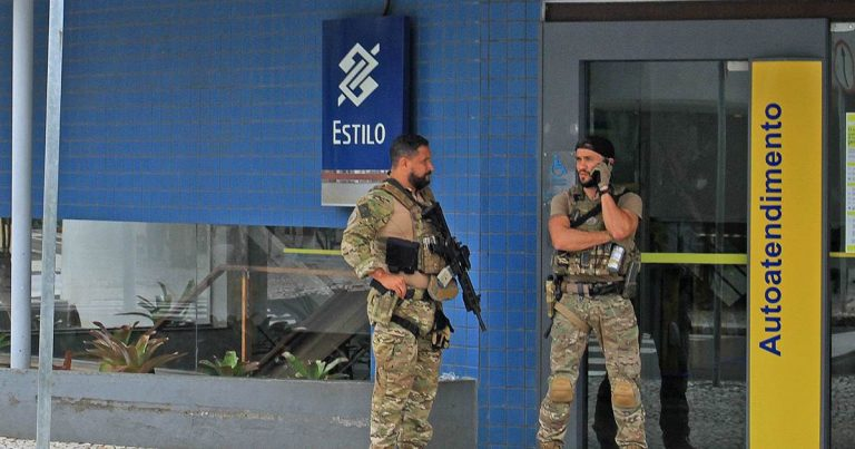 Masked Brazilian bank robbers attack another city, kill 1