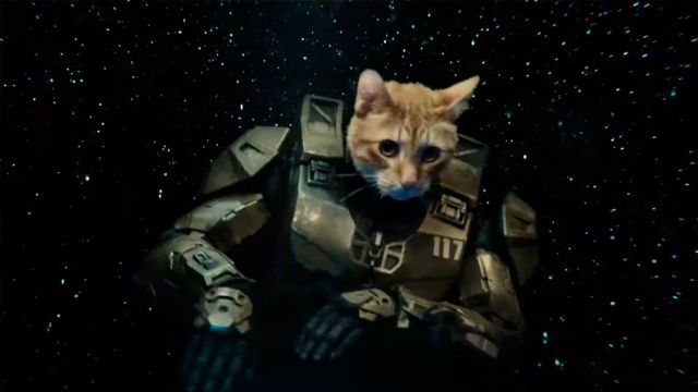 Master Chief, a space cat DJ in the Xbox Series X trailer