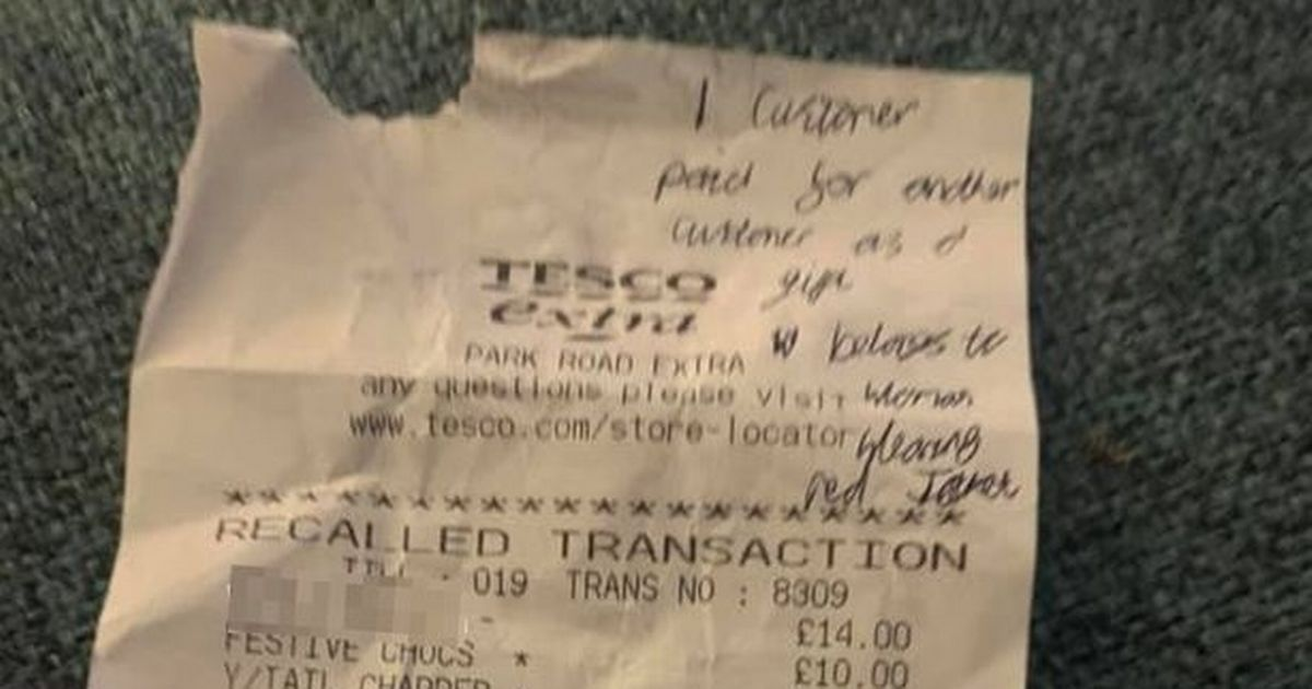 Mum in tears as 'young' stranger pays for her Tesco Christmas shop
