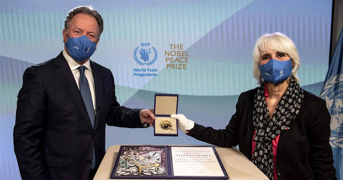 Nobel Peace Prize presented to World Food Program
