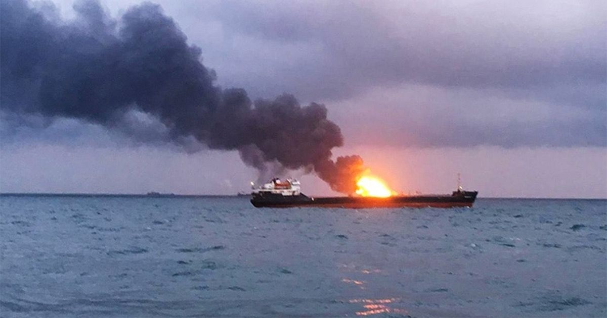 Oil tanker on fire after explosion 'from external source' while leaving Saudi