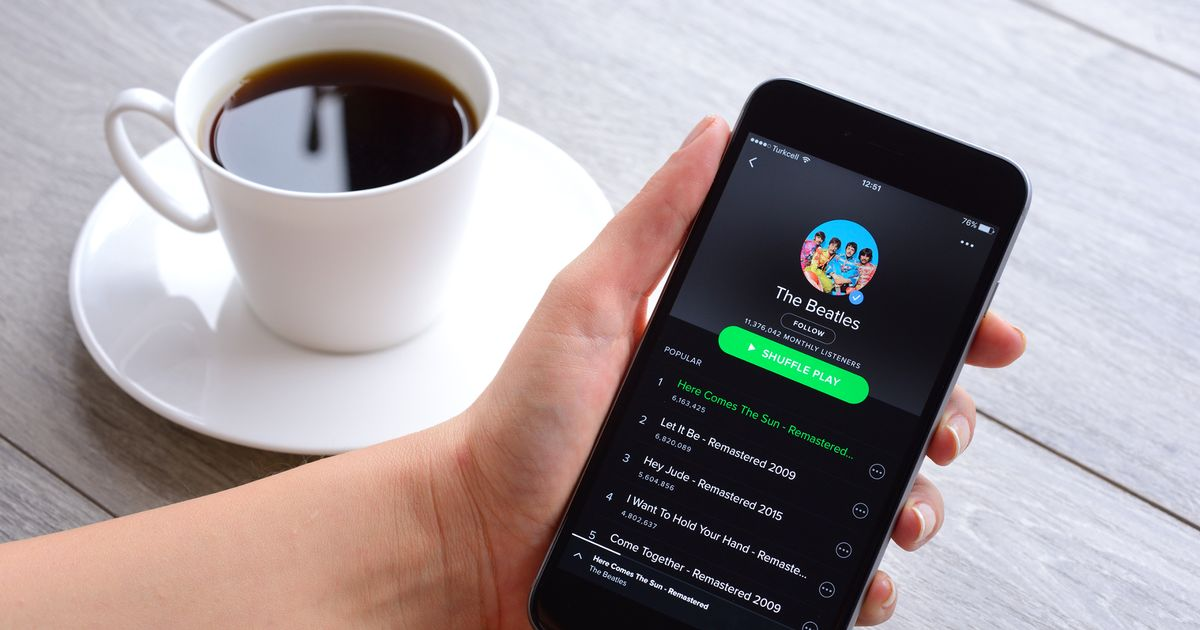 Spotify users complain after music streaming service goes down