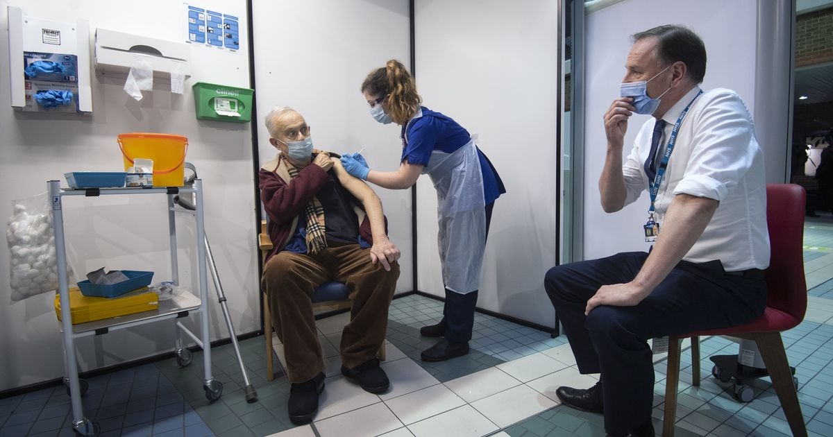 Two NHS staff suffer reaction to vaccine on first day of rollout