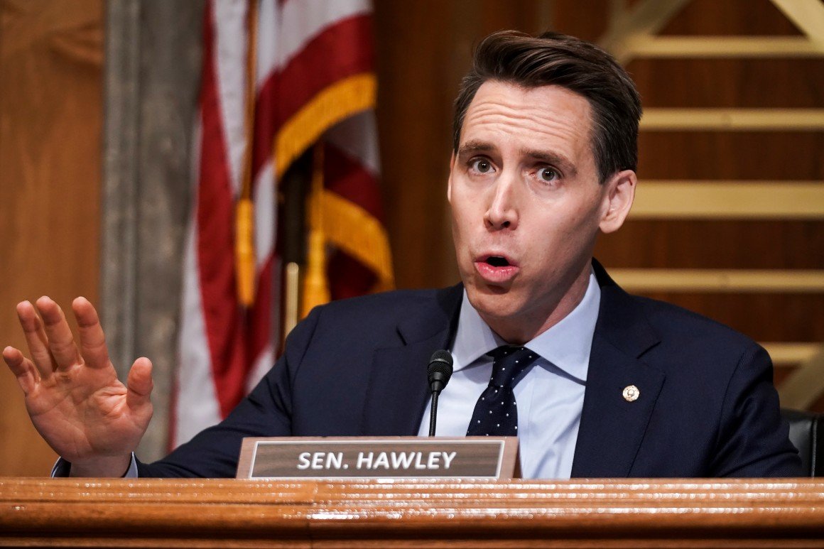 'Exercise in futility': Republicans lambaste Hawley's push to challenge election