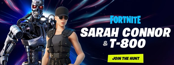 Terminator and Sarah Connor arrive in Fortnite!