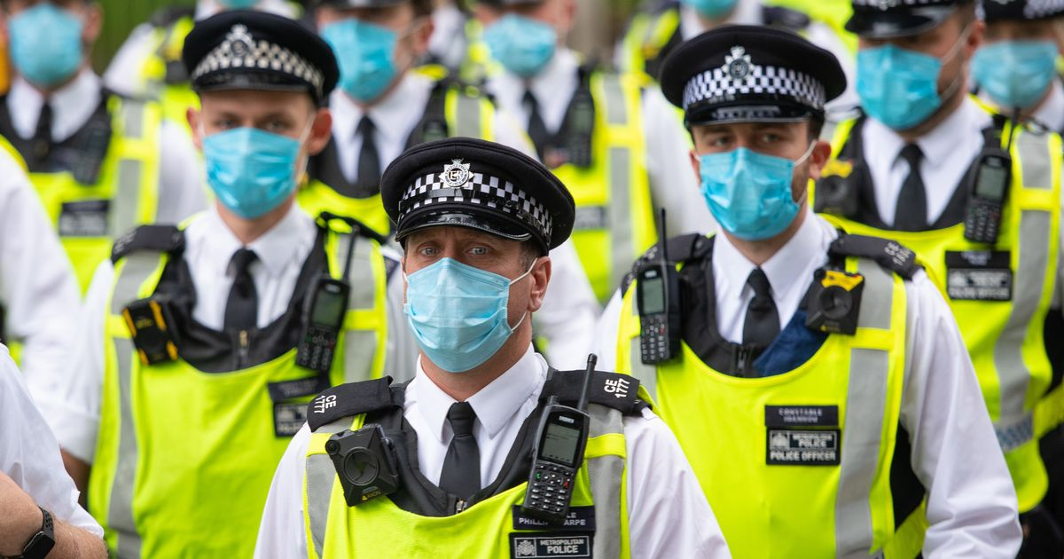 A third of police are threatened with spit from people claiming to have Covid