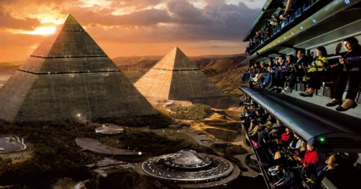 Alien inspired theme park with UK's first flying theatre to open