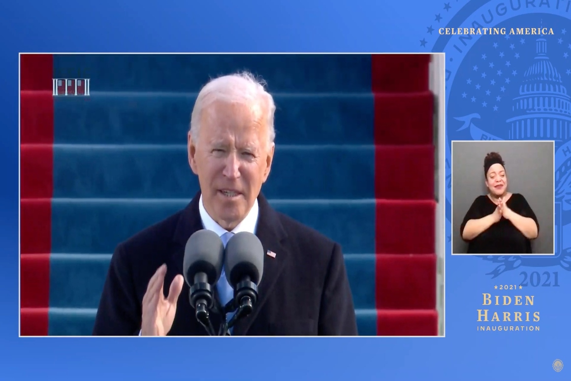 Biden, in post-inauguration celebration, calls on Americans to rise to moment of crisis