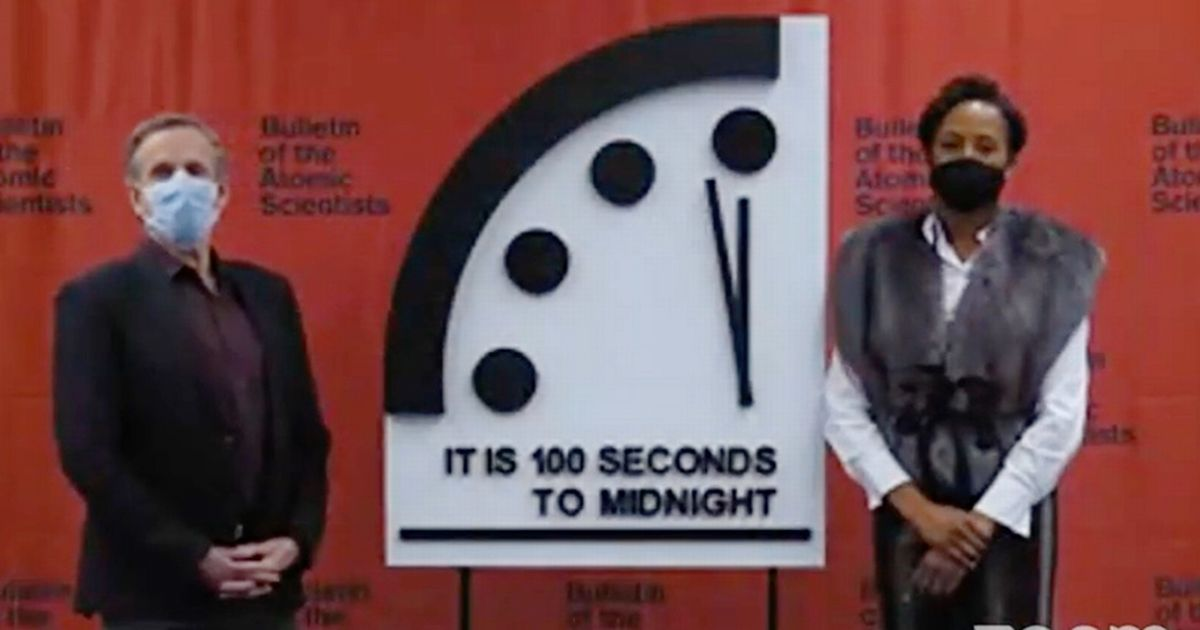 Doomsday Clock remains at 100 seconds to midnight - closest ever to apocalypse