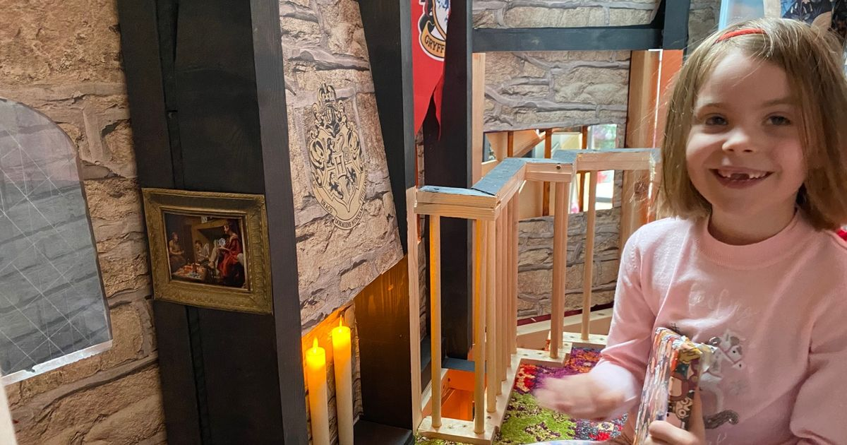 Doting dad re-creates Harry Potter film set for daughter's birthday